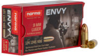 Norma Ammo Envy 9mm 124 Grain FMJ 50 Rounds [29944